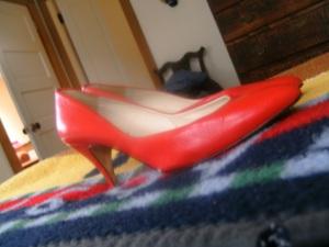 red shoe morning